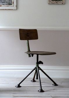 european industrial factory stool.