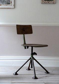 european industrial factory stool.