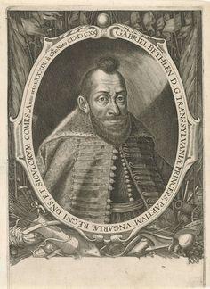 Aegidius Sadeler | Portret van Gabriel Bethlen, prins van Transsylvanië, Aegidius Sadeler, 1620 | Portret van Gabriel Bethlen, prins van Transsylvanië op 39-jarige leeftijd. Rondom het portret wapentuig.