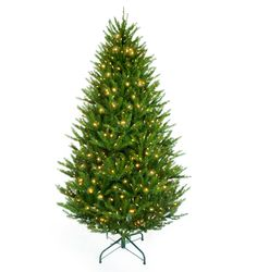 Features:  -700 Clear lights.  -Folding metal stand for easy storage.  -Separates into 3 sections for easy storage.  -Hinged branches.  -Snowtime collection.  -Material: PVC / Wire.  Product Type: -Ar