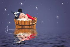 Fantasia inspired newborn boy Mickey Mouse Photograph by Drawing in Light Photography