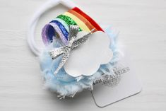 ~* Rainbow Wishes *~ Primary Colored Headband or Clip