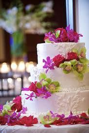 wedding cake decorated with fresh flowers - Google Search