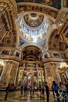 St. Isaac's Cathedral, our Russian Orthodox brothers & sisters, it is their largest cathedral in St Petersburg. It is beautiful.