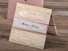 Custom listing 100 Patel Pink Lace Wedding by forlovepolkadots