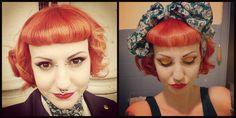 Orange hair + bettie bangs