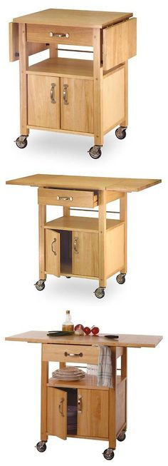 Kitchen Islands Kitchen Carts 115753: Winsome Wood Drop-Leaf Kitchen Cart -> BUY IT NOW ONLY: $131.65 on eBay!
