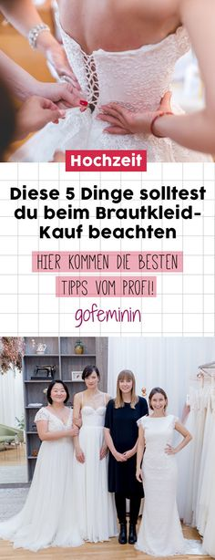 Tipps vom Profi: 5 Dinge, die du beim Kauf deines Brautkleides unbedingt beachten solltest! #brautkleid #brautmode #hochzeit #profitipps