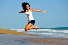 ✳ Woman in White Tanktop Jump over Beach Sand - get this free picture at Avopix.com    ➡ https://avopix.com/photo/33275-woman-in-white-tanktop-jump-over-beach-sand    #beach #sea #ocean #summer #sky #avopix #free #photos #public #domain