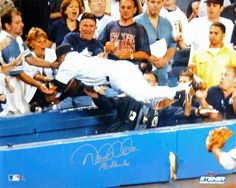 Derek Jeter 2004 Dive Close Up Photo (MLB Auth)It was July 1 Yankees vs. Red Sox a crucial game for the AL East rivals. Derek Jeter went back on an Derek Jeter, Mlb, America's Pastime, Boston Red Sox, New York Yankees, Diving, All About Time, Athlete, Basketball Court