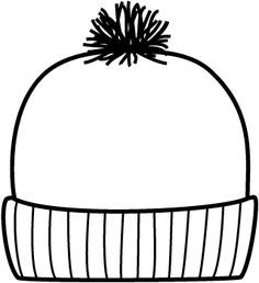 It's just a picture of Fabulous Winter Hat Coloring Page