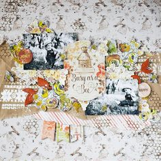 Busy as a bee layout by Vera Shelemekh with Amber&Apricot