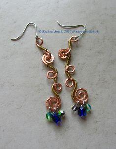 Curly-Q Earrings