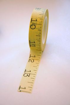 Japanese Washi Tape  15mm  Yellow Tape Measure Style by InTheClear, $3.95