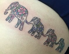 Elephant family tattoo SouthInkpr Tattos  by: John Collazo