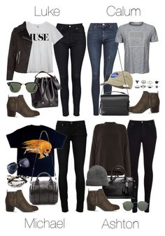 """""""5SOS Styles: Brown Heeled Boots"""" by fivesecondsofinspiration ❤ liked on Polyvore featuring Topshop, Office, H&M, Ray-Ban, Calvin Klein, AllSaints, Citizens of Humanity, Paige Denim, Alexander Wang and Coach"""