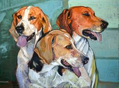 """'Three Waiting' 30""""x40"""" oil on linen, Leslie Shiels Studio, Private Collection"""