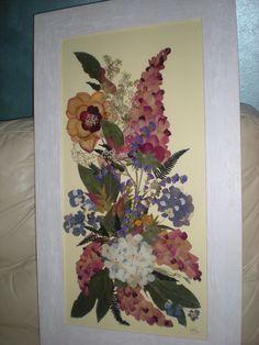 QUADRO :  fiori pressati