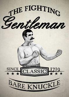 #fighting #gentleman #bareknuckle #poster #boxer #mma #grappling #vintage #retro #artprint #wallart #artprint