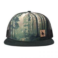 Hippytree Sonoma Hat. Organic cotton. Deep forest print.