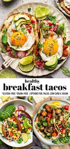 These easy breakfast tacos are so delicious and come in both meat and veggie options! Ready in less than 30 minutes, this easy recipe is family friendly! Clean Eating Breakfast, Paleo Breakfast, Breakfast Recipes, Breakfast Ideas, Breakfast Buffet, Free Breakfast, Sweet Potato Breakfast, Breakfast Tacos, Vegan Mexican Recipes
