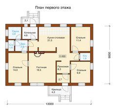 План первого этажа проекта H-112-1P
