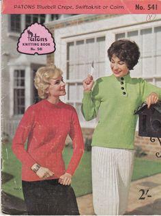 Paton's Knitting Pattern No 541  For by jennylouvintage on Etsy
