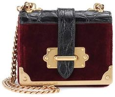 Prada Micro Cahier velvet shoulder bag