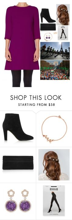 """(I'm back!) Attending and handing out medals at the Paris Marathon"" by fashion-royalty ❤ liked on Polyvore featuring Jimmy Choo, Paloma Picasso, Lauren Merkin, Kiki mcdonough and Wolford"
