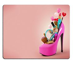 Liili Natural Rubber Mouse Pad Cosmetics set into a womans shoe Fashion illustration IMAGE ID 26044487 Pop Art Drawing, Makeup Wallpapers, Pink Office, Cosmetic Sets, Barbie Party, Power Girl, Fashion Shoes, Make Up, Cosmetics