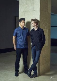 Thomas Brodie-Sangster and Ki Hong Lee!!
