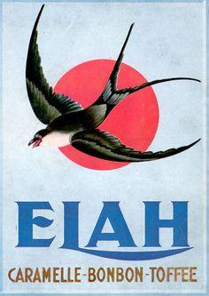 ELAH-caramelle-bombon-toffee-rondine sole  Pubblicità vintage originale 1940