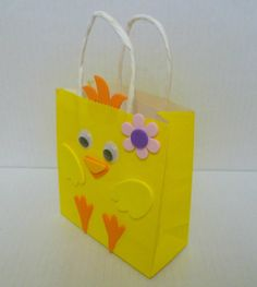 Easter gift bags my creations pinterest easter and diy ideas easter gift bags chick gift bag paper gift bag by fatassdesigns 199 negle Image collections