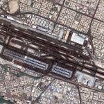 全景を見る:宇宙から見たドバイ国際空港