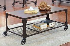 Furniture of America Kastas Industrial Coffee Table Black *** Want additional info? Click on the image. #follow