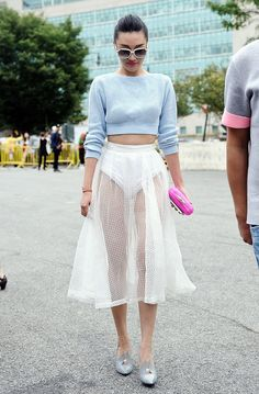 street style: New York Fashion Week Spring 2015... I wouldn't say easy wearable!...but steel gorge! lol