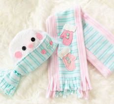 Baby Snowman Hat & Scarf  Make a heartwarming gift  By: Debra Quartermain  More Sharing ServicesShare | Share on facebook Share on myspace Share on google Share on twitter  |			  :: 11 Comments  Dress a precious little one up in adorable style this winter with a snowman hat and scarf set. Baby will be warm and comfortable in soft fleece accessories.