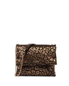 Animal-Print Sugar Sheepskin Shoulder Bag, Gold by Lanvin at Neiman Marcus.