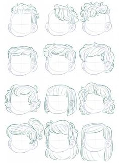 55 Ideas Fashion Sketches Hair Ideas #hair #fashion