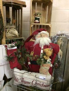 Primitives, Front Porch, Ladder Decor, Handmade Items, Santa, Dolls, Christmas, Home Decor, Baby Dolls