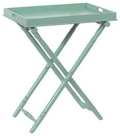 Everyone could use a butler like this. Stylish yet practical, this butler folding tray table stows neatly away when not in use, but pops open in a second to