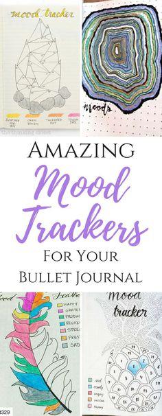 bullet journal mood trackers, bullet journal layouts, bullet journal trackers
