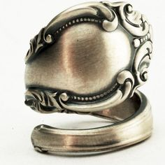 Sterling Spoon Ring Victorian Ornate and Elegant Design, Handcrafted in Your Size . $57.00, via Etsy.