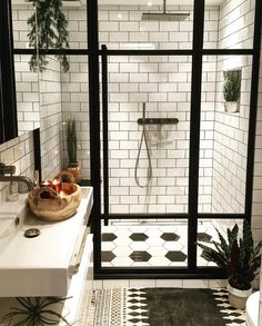 75 Most Popular White Bathroom Design Ideas for 2018 - Di Home Design Basement Bathroom, Bathroom Interior, Master Bathroom, Bathroom Remodeling, Remodel Bathroom, Remodeling Ideas, Bathroom Sinks, Bathroom Black, Boho Bathroom