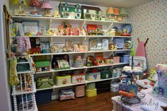 I want a wall full of vintage sweet goodness just like Renee.  My Vintage Mending