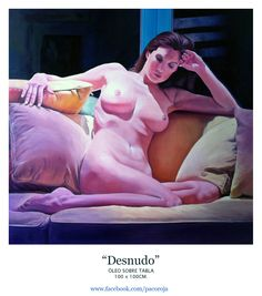 """Desnudo"" Óleo sobre tabla 100X100cm"