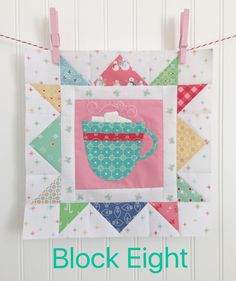 Here we are...   already into October   and week eight!        Because this quilt only has 12 blocks   it seems we are going super f...