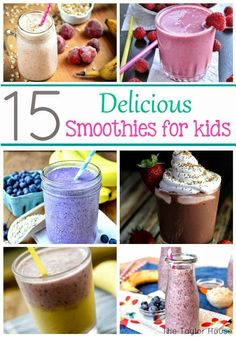 Helping Kids Grow Up: 15 Delicious And Healthy Smoothies For Kids