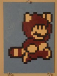Tanooki Mario (Video Game Pixel Painting) by thepixeldad on deviantART