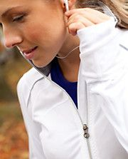 Run: stay on course jacket from lululemon in white.